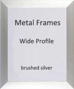 Brushed Metal Picture Frame, Wide Profile, Brushed Silver, 50x70cm